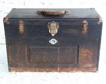Vintage GERSTNER & SON Ohio 7 DRAWER Oak Machinist Tool Box