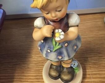 Vintage Goebel Porcelain HUMMEL West Germany Figurine Members Only Girl Daisy