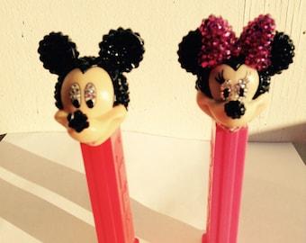 Mickey and Mini Rhinestone encrusted Pez Dispenser