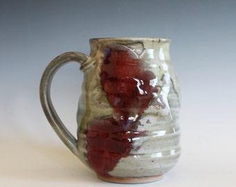 LARGE Mug, 22 oz,handmade ceramic cup, tea cup, coffee cup, handthrown ceramic stoneware pottery mug, unique coffee mug