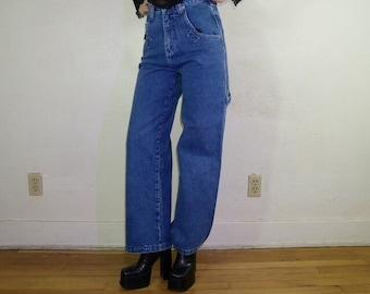 90s urban girl wide leg denim pants by no excuses the mega leg pant size 7/8.