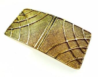 Belt buckles, vintage gold tone metal cinch