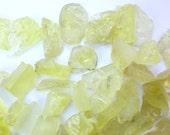 LEMON QUARTZ Rough Gems. Natural Surface, Flat bottom. Lemon Citrine. Flat Back for EZ Setting. 9 pc. 21gms 29x17 to 24x14 mm  (Ct238a)
