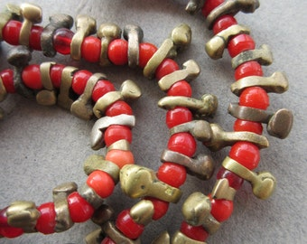 Old African Bronze Beads