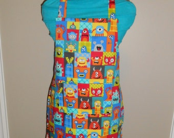 Funny Monsters Child's Apron