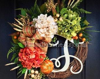 NEW! Fall Wreaths for Front Door, Fall Wreaths, Wreaths for Door, House Warming Gift, Seasoanl Door Wreaths, Front Door Wreaths