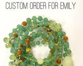 CUSTOM ORDER for EMILY // Double Wrap Necklace