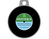 Custom Pet ID Tag - Old Fashioned Rock and Roll Record  Pet Tag, Dog Tag, Cat Tag