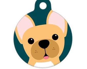 Pet ID Tag - French Bulldog Pet Tag, Dog Tag