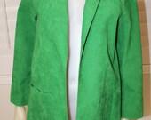 Vintage Green Ultra Suede 70's Jacket  M