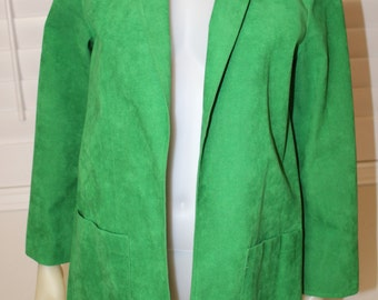 Vintage Green Ultra Suede 70's Jacket  M