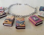 Choose Your 7 (Seven) Books Charm Bracelet