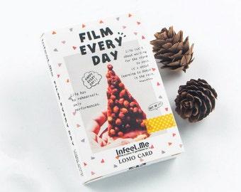 28 Pcs Film Every Day Bookmark Card - Die Cut Cardstock Scrapbook Embellishment