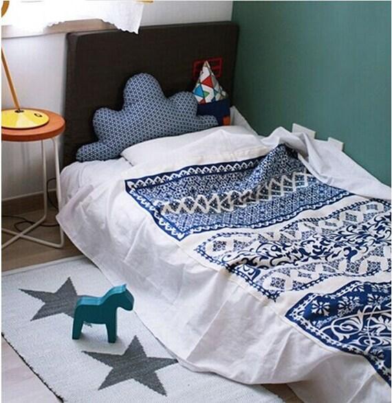 Cotton linen fabric cloth diy cloth art manual cloth blue print 1398 sciox Choice Image