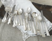 Vintage Silver Plated Flatware Mis-matched Set Hotel Restaurant 4 Settings 20 Pieces Total Dining Home Decor Neiman Marcus 1990s