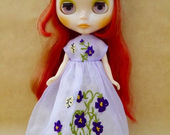 Beautiful Hand Embroidered dress for Blythe