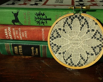 Vintage Lace Embroidery Hoop Art