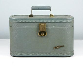 Vintage Train Case Lady Baltimore, Small Suitcase, Vintage Luggage, Cosmetic Case, Makeup Case, Overnight Case, Vintage Suitcase