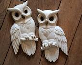 Vintage Pair of Owl Wall Hangings