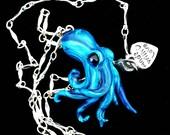 TINY Octopus pendant