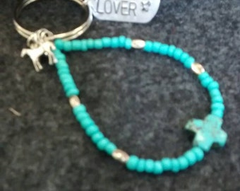 Horse lover stamped key chain