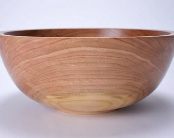 "Wild Cherry Wooden Salad Bowl #1492 10 5/8"" X 4 1/2"""
