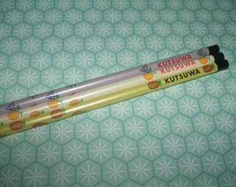 Ultra Rare Vintage 1970s Kutsuwa Fruity Unsharpened Pencils - Excellent Vintage Condition