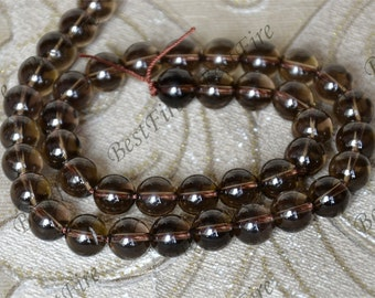 10mm of Natural Smoky Quartz round Gemstone Loose Beads,gemstone loose bead,semi-precious stone bead
