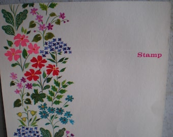 Vintage 1980's Unused Country Wild Flowers Stationary - Set Of 11