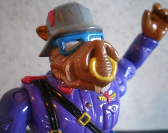 Vintage 1990's Children's Action Figure Toy -  Teenage Mutant Ninja Turtles - Private Porknose Bebop