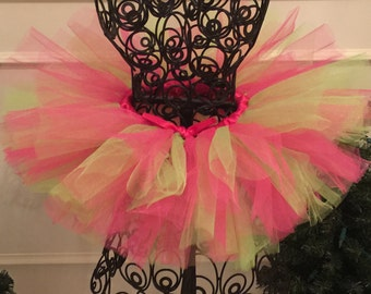 Pink and Lime Green Tutu