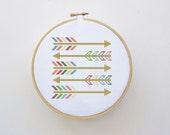 Arrows Cross Stitch Pattern - PDF File - Easy Cross Stitch Pattern, X Stitch Pattern, Embroidery, Modern Cross Stitch