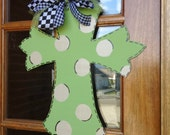 Cross door hanger great for Christmas and all year. Monogram, name, initials added free!