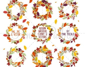 Thanksgiving Wreath Clipart Clip Art, Thanksgiving Flowers Clip Art Clipart - Commercial and Personal Use