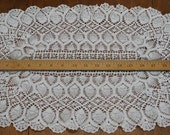 Doily Table Topper Large White Cotton Oval