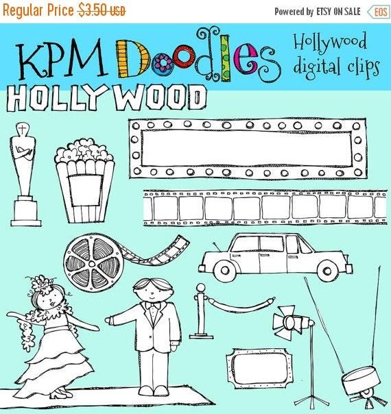 ON SALE KPM Hollywood  Digital stamps