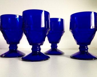 Georgian Cobalt Blue Goblets by Viking