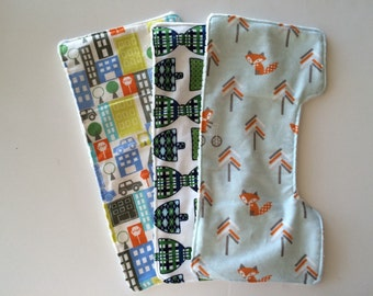 Set of Super Soft AND Absorbent burp cloths-Boy and Girl styles Available.