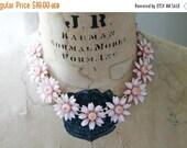 SHOP SALE Vintage Coro Plastic Celluloid Flower Necklace