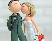 Fighter Pilot wedding cake topper