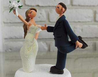 dancing couple wedding cake topper custom wedding cake toppers gift decoration and more by 13328