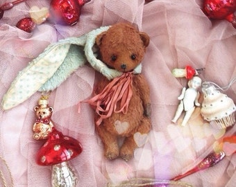 Sewing Kit for 6 Inch Bear with rabbit Hat