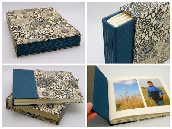 Medium Custom Scrapbook Photo Album with Matching Slipcase, 8x10 Landscape, Wedding, Anniversary, Baby Album, Made to Order >