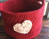 Custom Order for Kari Valentine basket (large)valentine, heart gift, valentine decor, heart basket, rustic heart basket, valentine basket, h