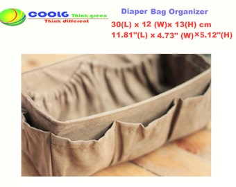 Diaper Bag Organizer insert for Louis Vuitton Neverfull MM, Faux Suede  light brown, Made to order+ FREE Pacifier Holder