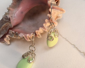 Summer Lime Gemstone and Hand Forged Silver by JeanineDesigns