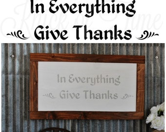 Thanksgiving autumn fall sign stencil for painted signs and home decor