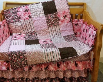 Western Crib Bedding Set, Toddler Bedding, Baby Sheets, Crib Skirt, Sheet, Blanket, Quilt, Rail Guard Cover, Order Set or Individual Items