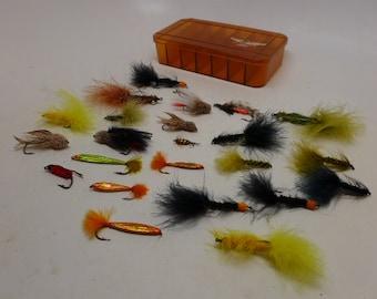 Vintage Fly Fishing Flies - Dry Flies - Approximately 23 Flies - Vintage Fishing
