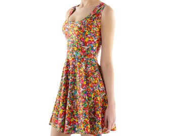 Rainbow Sprinkles Fit and Flare Dress